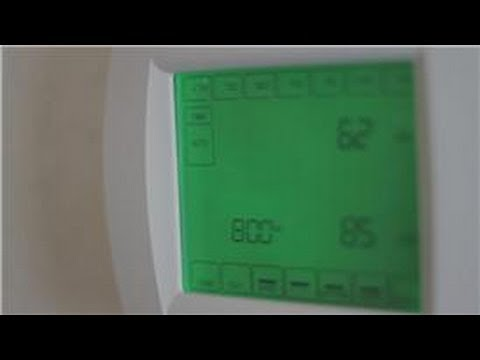 Central Air Conditioning Information : How to Program a Thermostat