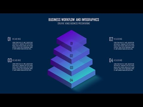 How To Design Creative 3D Infographic Art for Business Presentation in Microsoft Office PowerPoint
