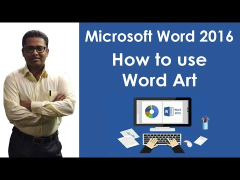 How to use Word Art in M S Word 2016