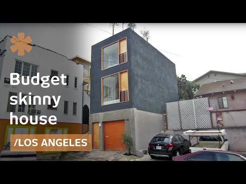 Skinny house in LA: affordable, minimal, modern home/office
