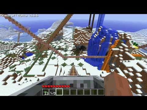 minecraft biggest roller coaster ever HUGE HD