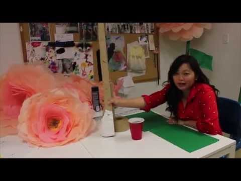 DIY Giant  Free Standing  Tissue Paper Flowers