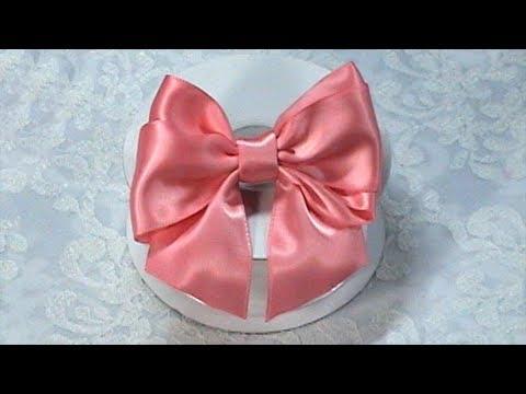DIY Ribbon Bow, DIY, Make Hair Bow, Tutorial, Bow Tie, Variant #2