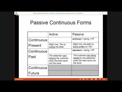 For levels 2-4 Passive Voice All Tenses and Modals