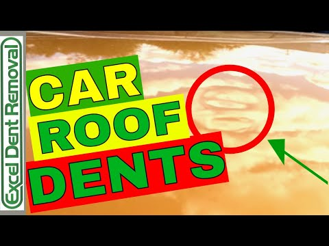 How Are Dents Removed From A Car Roof With Paintless Dent Repair
