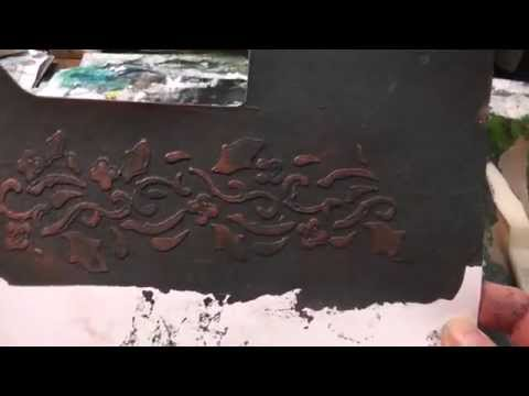 Micaceous Iron Oxide Stenciling