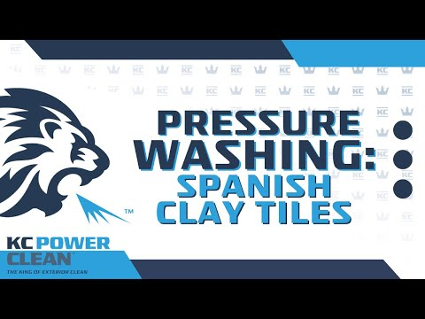 How Professionals Power Wash Spanish Clay Tiles