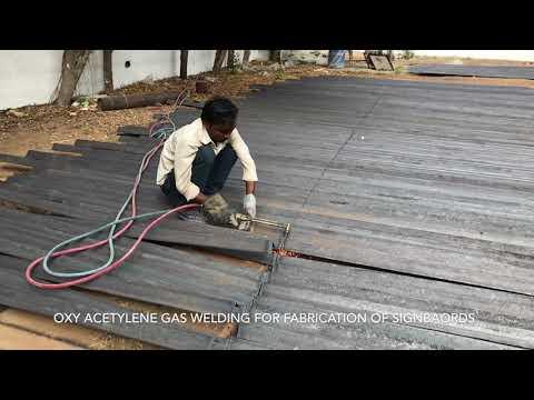 Oxy Acetylene Gas Welding for Signboard Fabrication