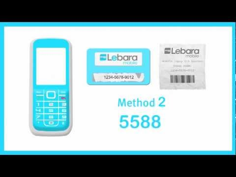 How to top up a Lebara SIM card