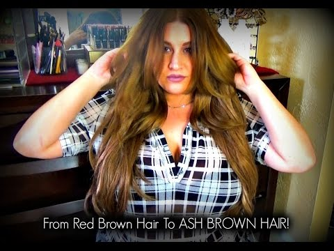 How I Went From REDDISH BROWN to LIGHT ASH BROWN