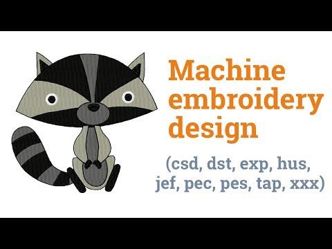 Coon. Machine embroidery design (csd, dst, exp, hus, jef, pec, pes, tap, xxx)