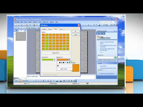 Microsoft® PowerPoint 2003: How to make backgrounds on Windows® XP