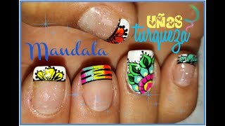 Decoración De Mandala En Uñasmandala Nail Artnails Decoration