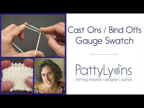 Gauge Swatch Cast On