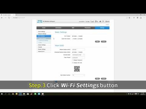 ZTE MF65M - Change the SSID and PASSWORD of Wi-Fi by Admin
