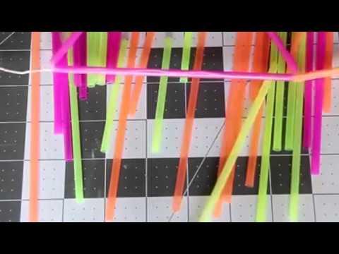 Tutorial How To Make Drinking Straw Bunting   HGTV Handmade
