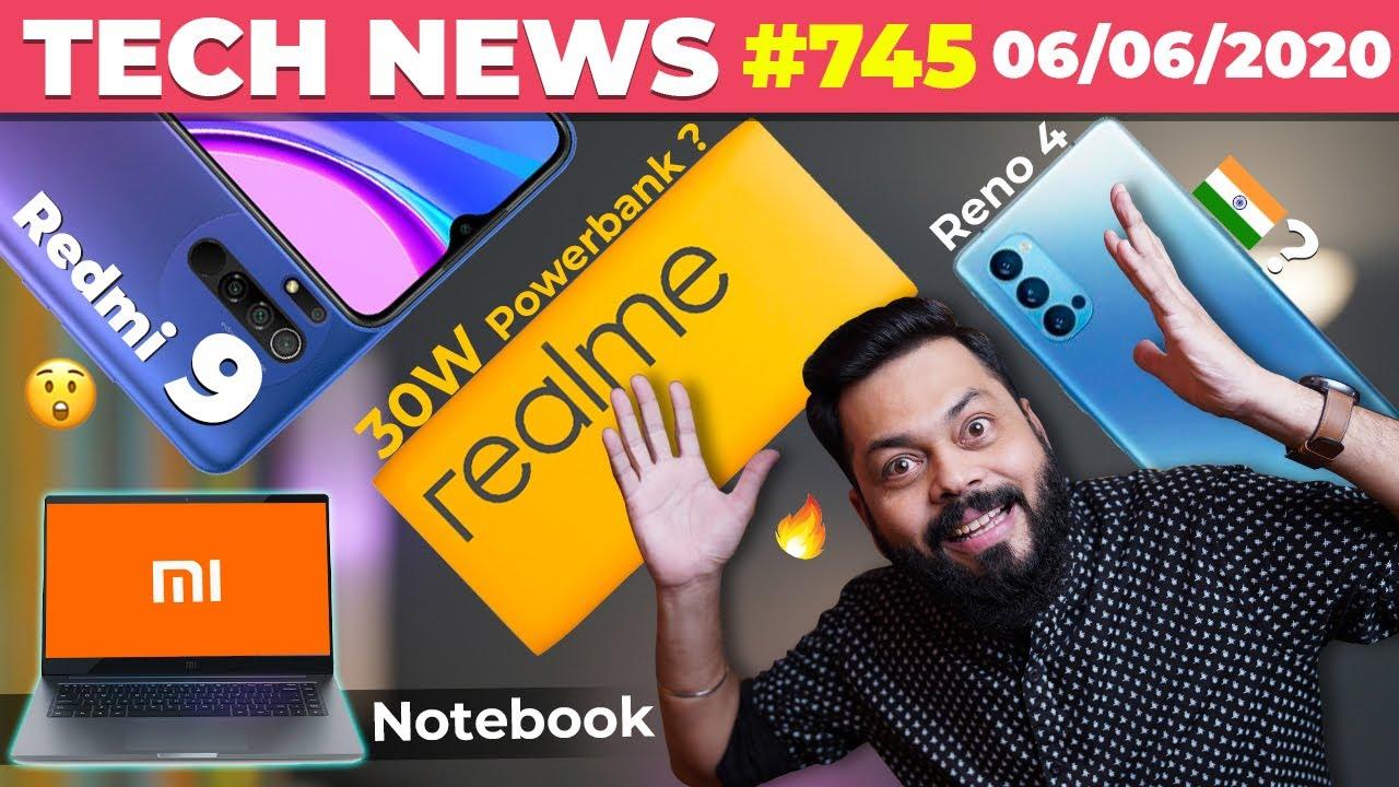 Redmi 9 Full Specs,realme 30W Powerbank,Mi Notebook Design,Reno 4🇮🇳Launch,Note 20 & Fold 2-#TTN745