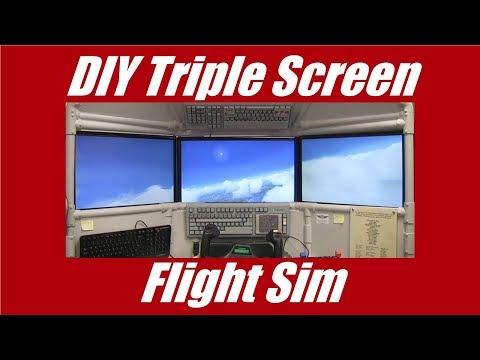 DIY Triple Screen Flight Sim... you can build it!