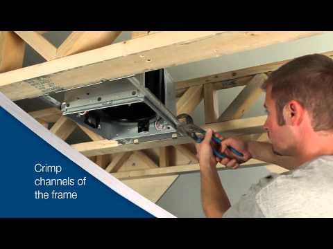 Broan ULTRAGREEN™ Series Ventilation Fan - Installation Video for New Construction