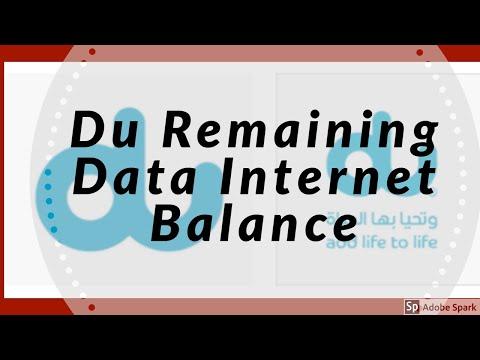 How To Check Du Remaining Data Internet Balance