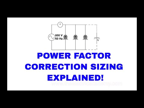 How do you size a capacitor for Power factor correction