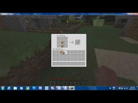 Minecraft tutorial-How to make tools (pickaxe, axe, shovel, sword)