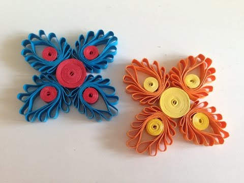 Quilling Flowers with a hair comb