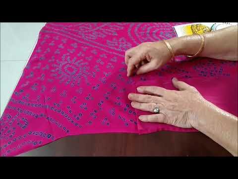 DIY - How to stitch Saree Fall at home by Kalpana Talpade / सारी फॉल