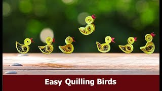 Download #quillingcraft #Handcraft Easy Quilling Birds | Quilling Craft | Aloha Crafts Video