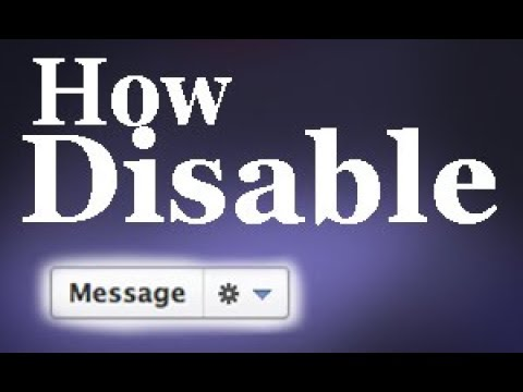 How do Disable/Enable Messaging on Facebook Page