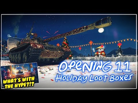 Holiday OPS 2017 - Opening 11 Loot Boxes || World of Tanks