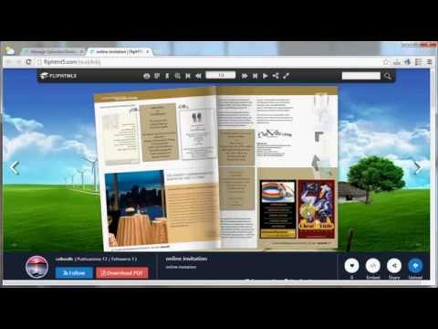 Free online invitation maker Flip HTML5 for Creating Wonderful Online Invitation