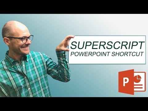 Superscript in PowerPoint Shortcuts (and subcripts too)