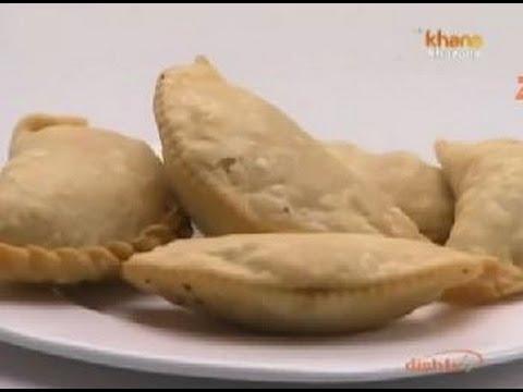 Mawa Gujiya - Sanjeev Kapoor - Khana Khazana