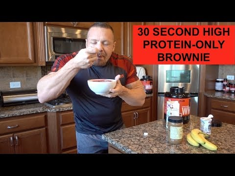 30 Second High Protein-ONLY Brownie!