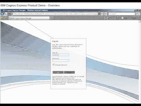 IBM Cognos Express Planner Demo posted by nexDimension Technology Solutions