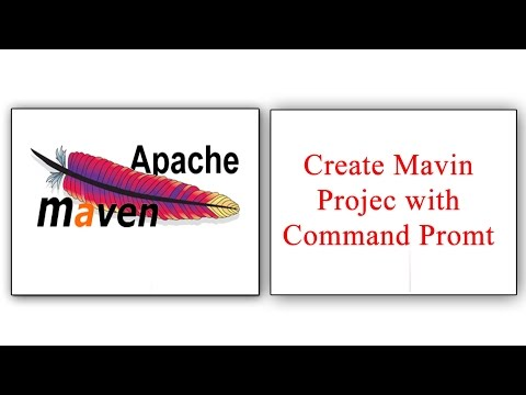 How to create maven project with command prompt