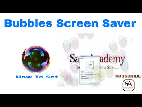 amazing floating bubbles on the screen(step by step procedure)
