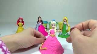 Play Doh Ball Gown Disney Princess Glitter Glider Frozen Elsa Rapunzel 플레이도우 드레스 겨울왕국 엘사 라푼젤