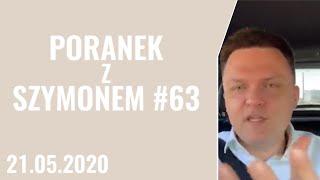 Barbara Nowacka kłamie! - Poranek z Szymonem #63, 21.05.2020