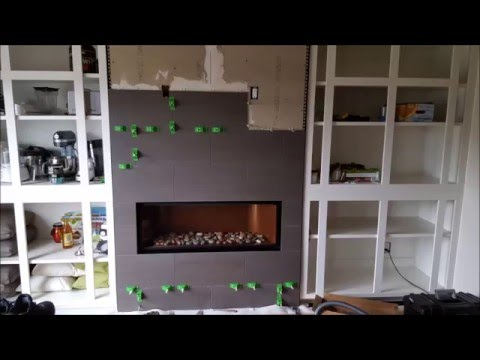 Installing a Mendota ML 47 linear fireplace