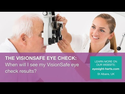 When will I see my VisionSafe Eye Check results?