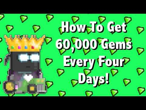 Growtopia | How To Get 60,000+ Gems Every Four Days!