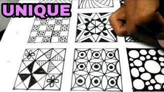 Menggambar 15 Pola Zentangle Kreasi Gambar Part 1