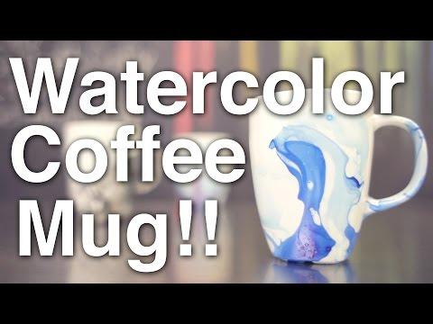 DIY Watercolor Coffee Mugs!!