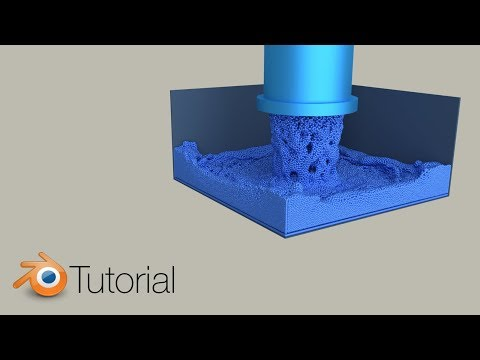 Massive Particle Fluid Simulation, Blender Tutorial (Cycles)