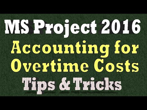 Ms Project Tips & Tricks 2018 - Accounting for Overtime Costs & Material Costs in Ms Project
