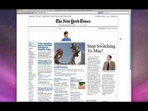NY Times Mac vs PC Ad - 20080910