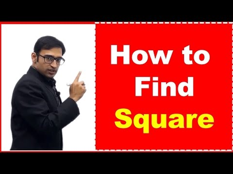 Easy Method to Find Square of any Number - IBPS/SSC Aptitude