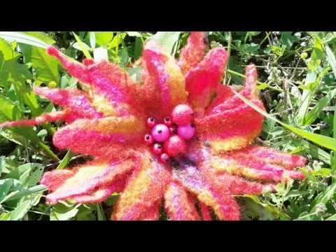 Felt Brooch, flower Brooch
